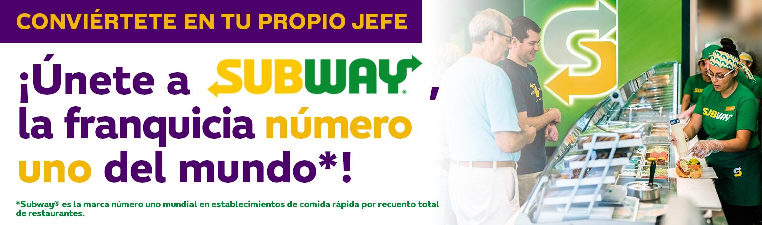 Unete a subway la franquicia numero 1